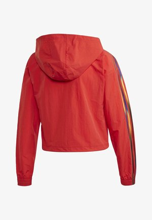 ADICOLOR HALF-ZIP CROP TOP - Sudadera con cremallera - red
