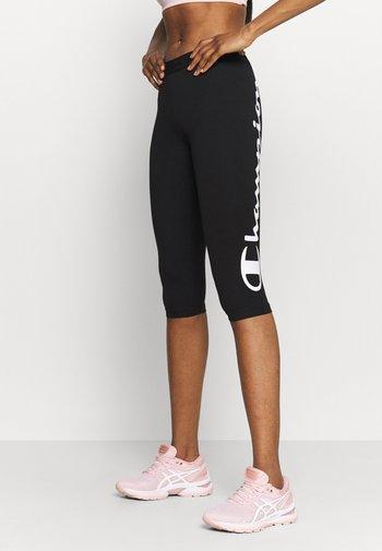 LEGGINGS - 3/4 sportovní kalhoty - black