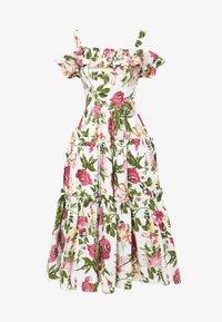 Madam-T - MICHELINA - Day dress - white / khaki - 6