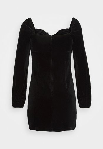 LONG SLEEVE MINI DRESS - Cocktail dress / Party dress - black