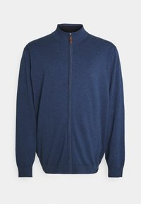 PLAIN ZIP COMFORT FIT - Cardigan - blue