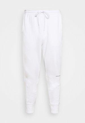 MICRO BRANDING PANT - Teplákové kalhoty - white