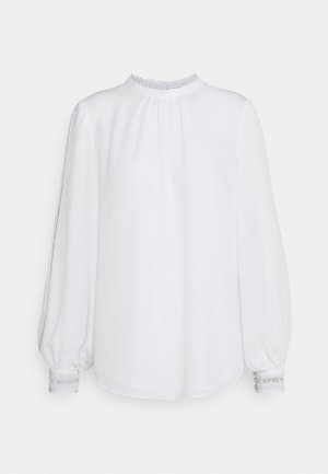 MEGAN TRIM SLEEVE BLOUSE - Blouse - ivory