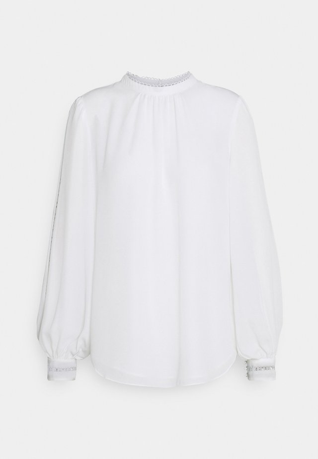 MEGAN TRIM SLEEVE BLOUSE - Blůza - ivory