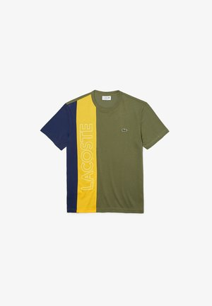 T-shirt imprimé - vert kaki / jaune / bleu