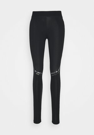 ONPSUE LIFE - Leggings - black/white/silver