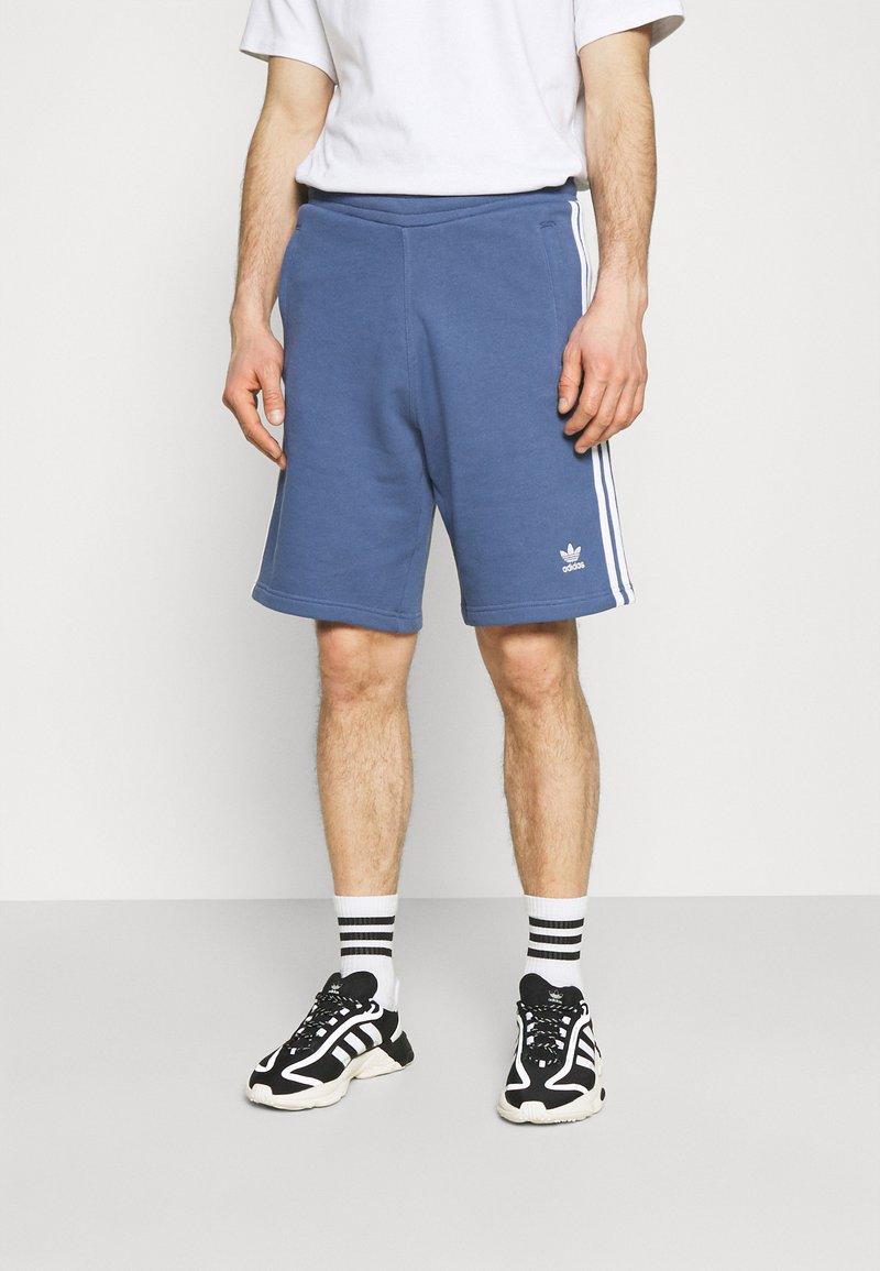 adidas Originals - 3 STRIPE UNISEX - Tracksuit bottoms - crew blue