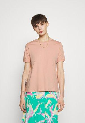 PCRIA FOLD UP SOLID TEE - T-shirt basic - misty rose