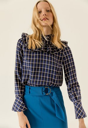 Blouse - true blue check