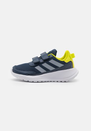 TENSAUR RUN UNISEX - Obuwie do biegania treningowe - crew navy/halo silver/acid yellow