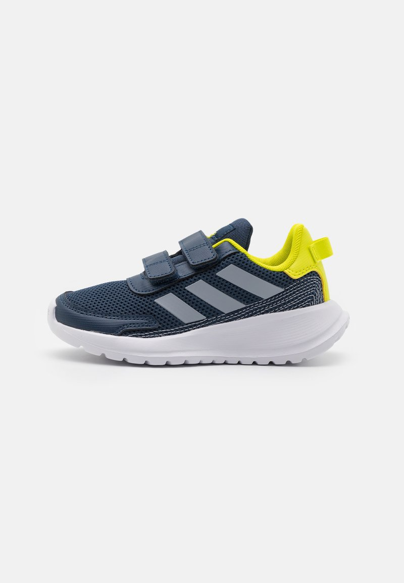 adidas Performance - TENSAUR RUN UNISEX - Neutral running shoes - crew navy/halo silver/acid yellow