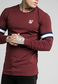 SIKSILK - TOURNAMENT TEE - Langarmshirt - wine - 4