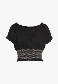 SUNSET SHIRRED OFF SHOULDER - Bluse - black