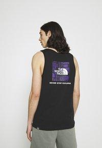 The North Face - DISTORTED LOGO TANK - Top - black/peak purple - 2