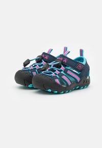 Kamik - CRAB UNISEX - Walking sandals - navy teal/marine bleu sarcelle - 1