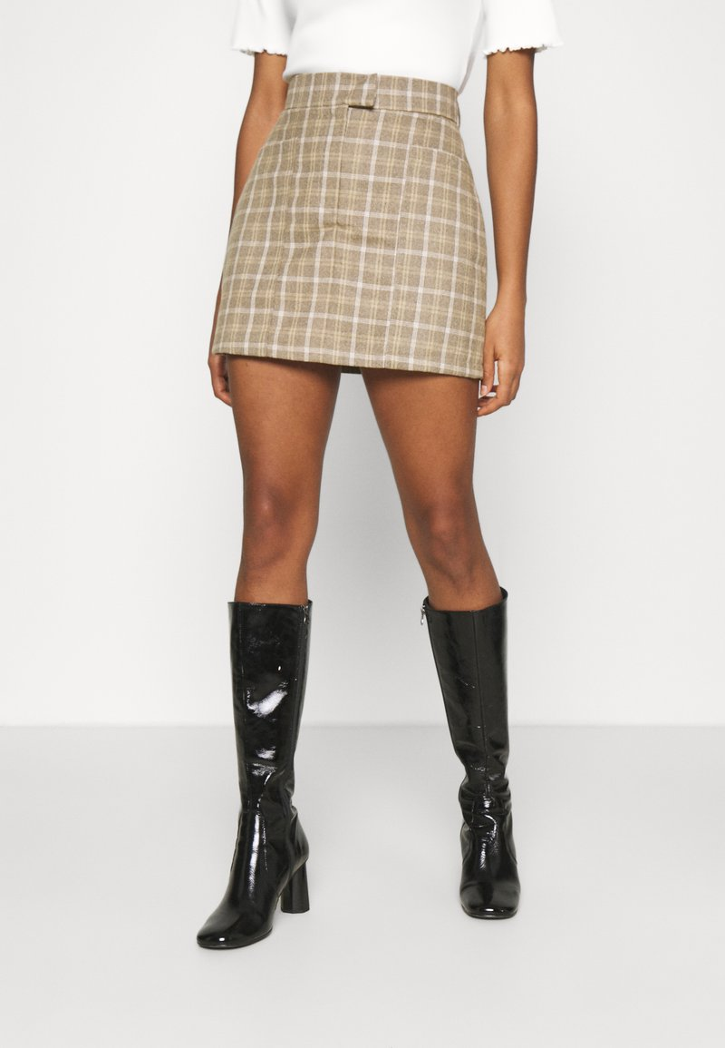 4th & Reckless - CHANCE SKIRT - Miniskjørt - beige