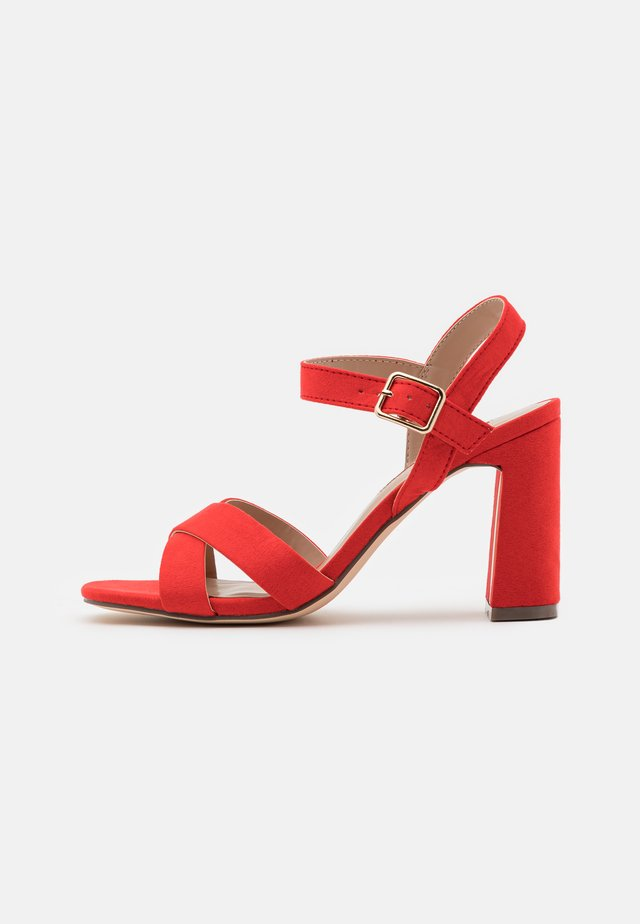 SELENA BLOCK  - High heeled sandals - coral