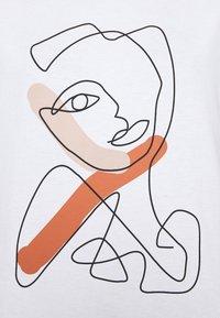 Cream - CARRIAC - Print T-shirt - white - 3