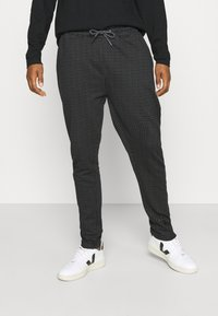 Nominal - MINI CHECK TROUSER - Trousers - black - 0