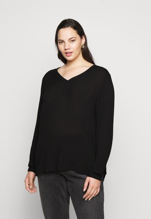KCAMI BLOUSE - Long sleeved top - black deep