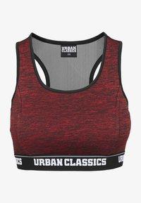 Urban Classics - ACTIVE - High support sports bra - red/black/black - 6