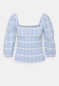 ONLY - ONLDAKOTA LIFE CHECK SMOCK - Long sleeved top - cloud dancer/blue - 4