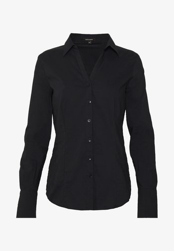 BLOUSE BILLA - Button-down blouse - schwarz
