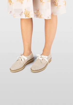NICOLE  - Sportieve veterschoenen - white