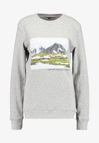 LADIES SUPPORT YOUR LOCAL PLANET CREWNECK - Sweatshirt - heathergrey