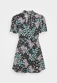 Dorothy Perkins Petite - DITSY PLAYSUIT - Jumpsuit - black - 0