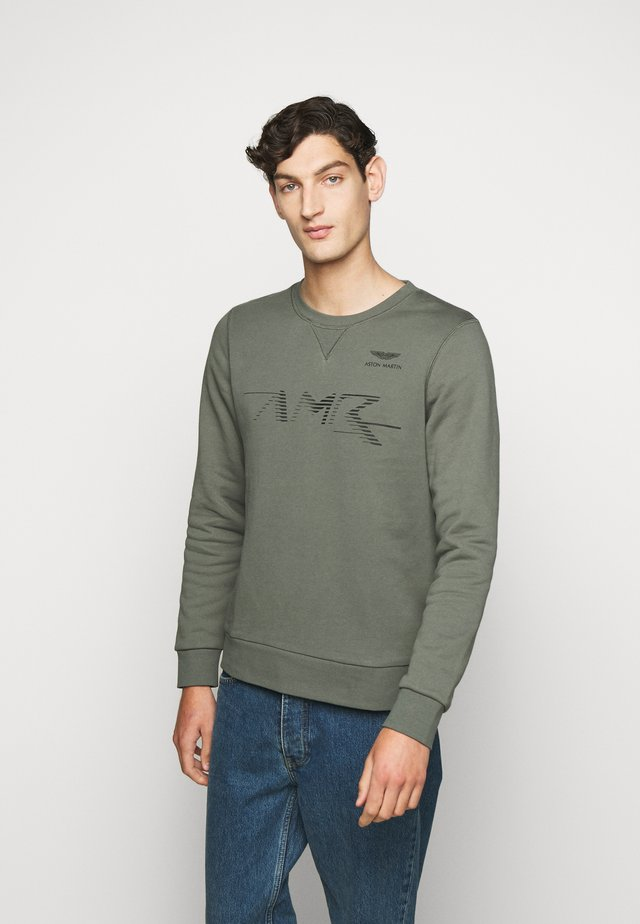 LOGO CREW - Sweatshirt - racing green