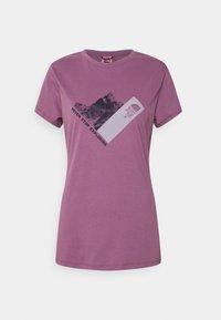 The North Face - NEW CLIMB TEE - Triko spotiskem - pikes purple - 0