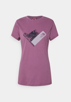 NEW CLIMB TEE - Print T-shirt - pikes purple