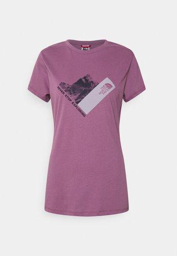 NEW CLIMB TEE - T-shirt con stampa - pikes purple