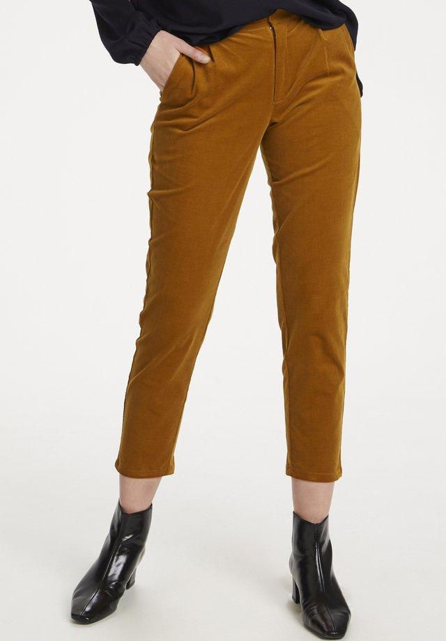 CORDIESZ   - Trousers - leather brown