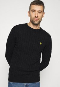 Lyle & Scott - CABLE JUMPER - Jumper - jet black marl - 3
