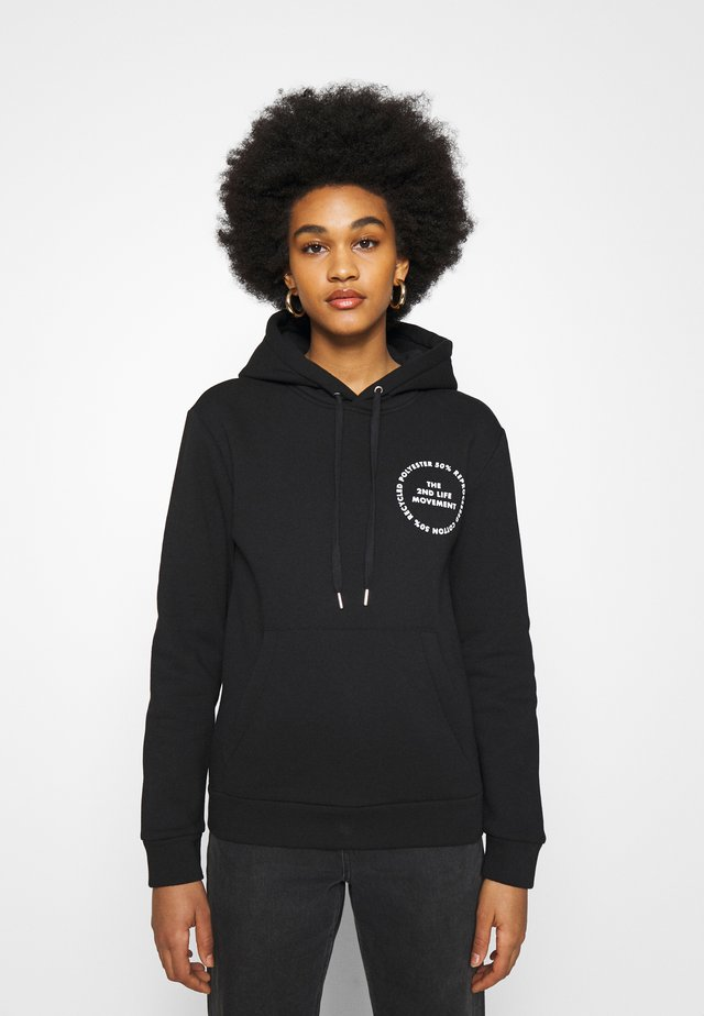 HOODY WITH GRAPHIC - Sweatshirt - black