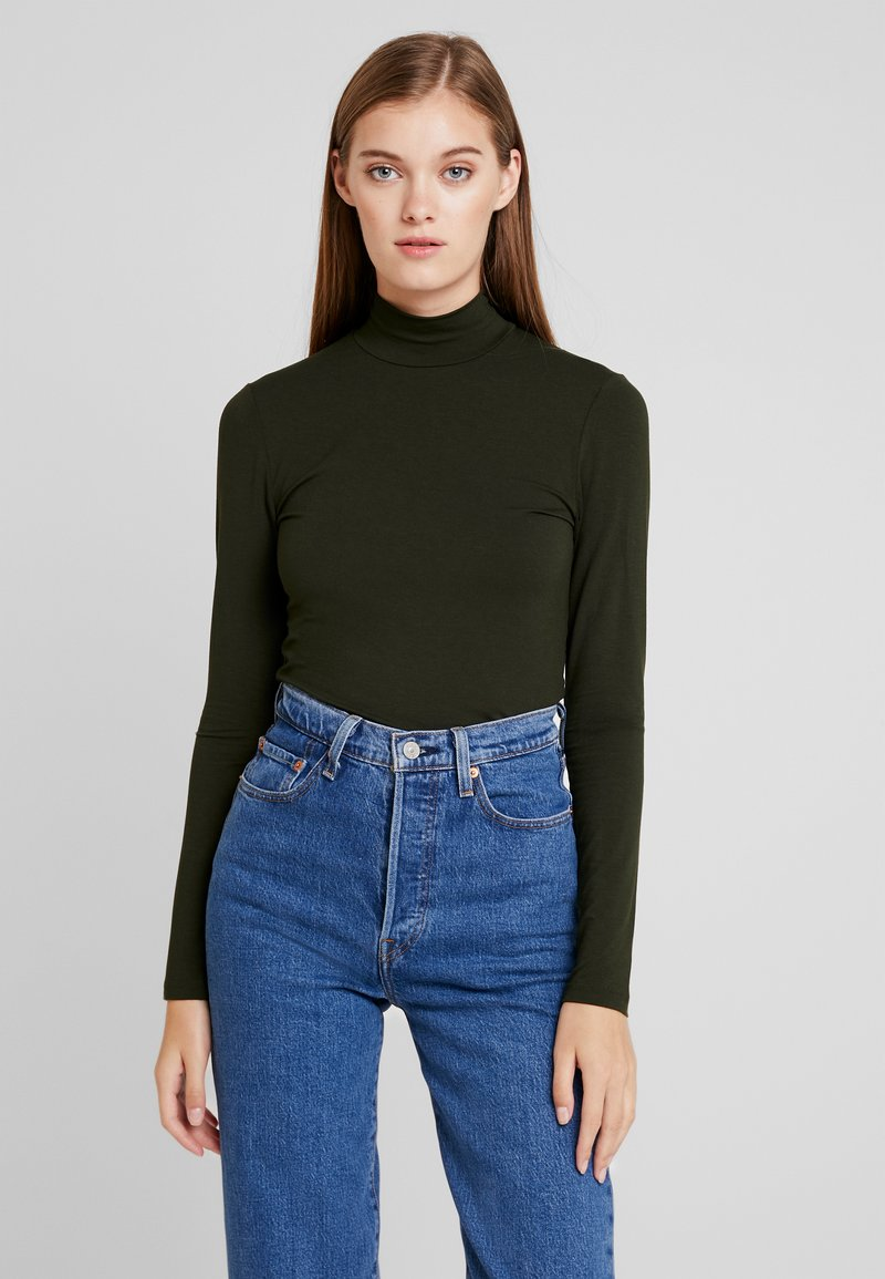 Selected Femme - SFMIO HIGHNECK  - T-shirt à manches longues - rosin