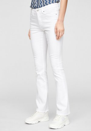 SLIM FIT BOOTCUT  - Bootcut jeans - white