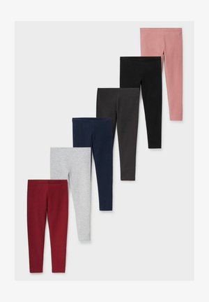 6 PACK - Leggings - Trousers - red dark blue