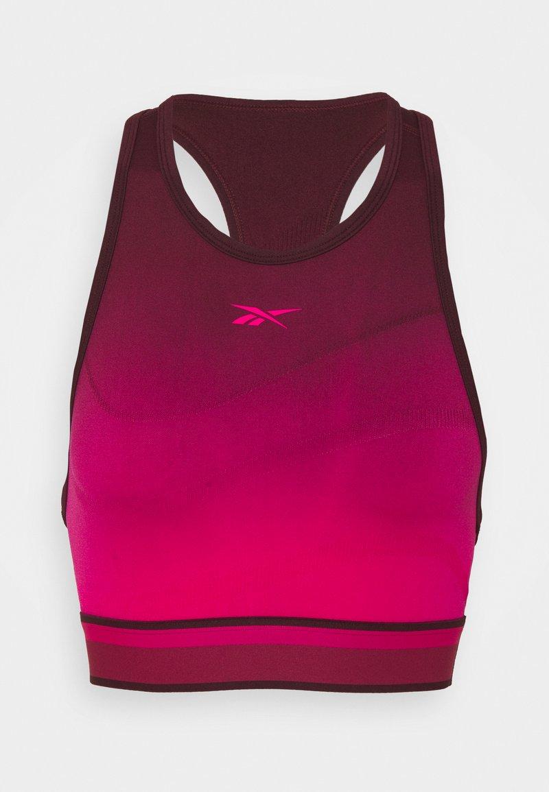 Reebok - Brassières de sport à maintien léger - maroon/pursuit pink