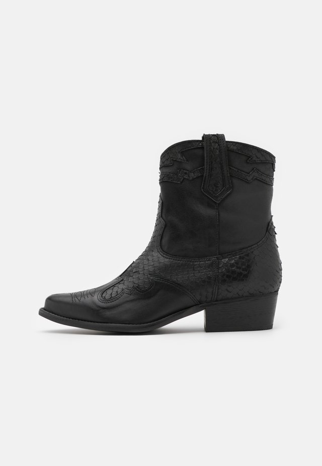 WEST - Stivaletti texani / biker - black