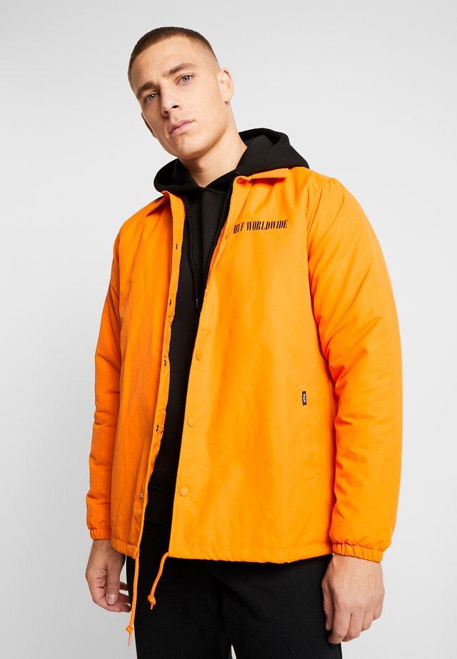NEUE MARKA COACHES JACKET - Jas - russet orange