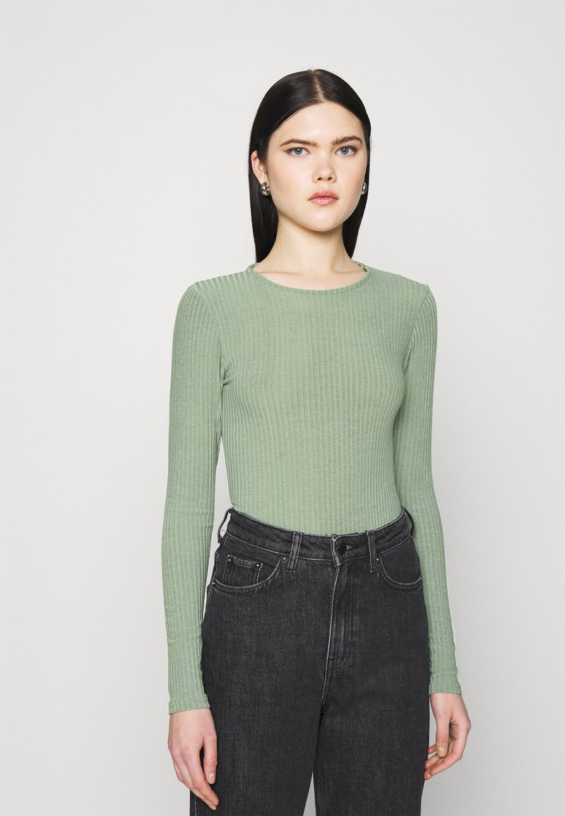 New Look - SOFT CREW NECK BODY - Long sleeved top - light green