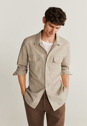 Shirt - open beige