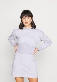 Missguided Petite - CORSET DRESS - Vestido informal - grey marl - 0