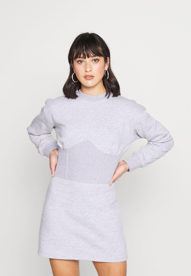 Missguided Petite - CORSET DRESS - Vestido informal - grey marl