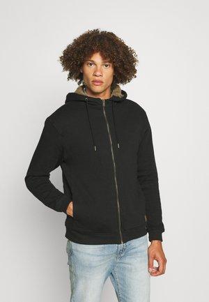 SHERPA ZIP THRU UNISEX - Felpa con zip - black