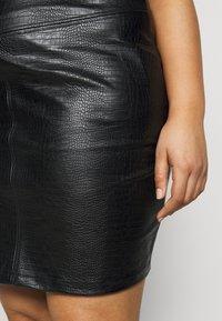 Noisy May Curve - NMLISSY SHORT SKIRT - Mini skirt - black - 4