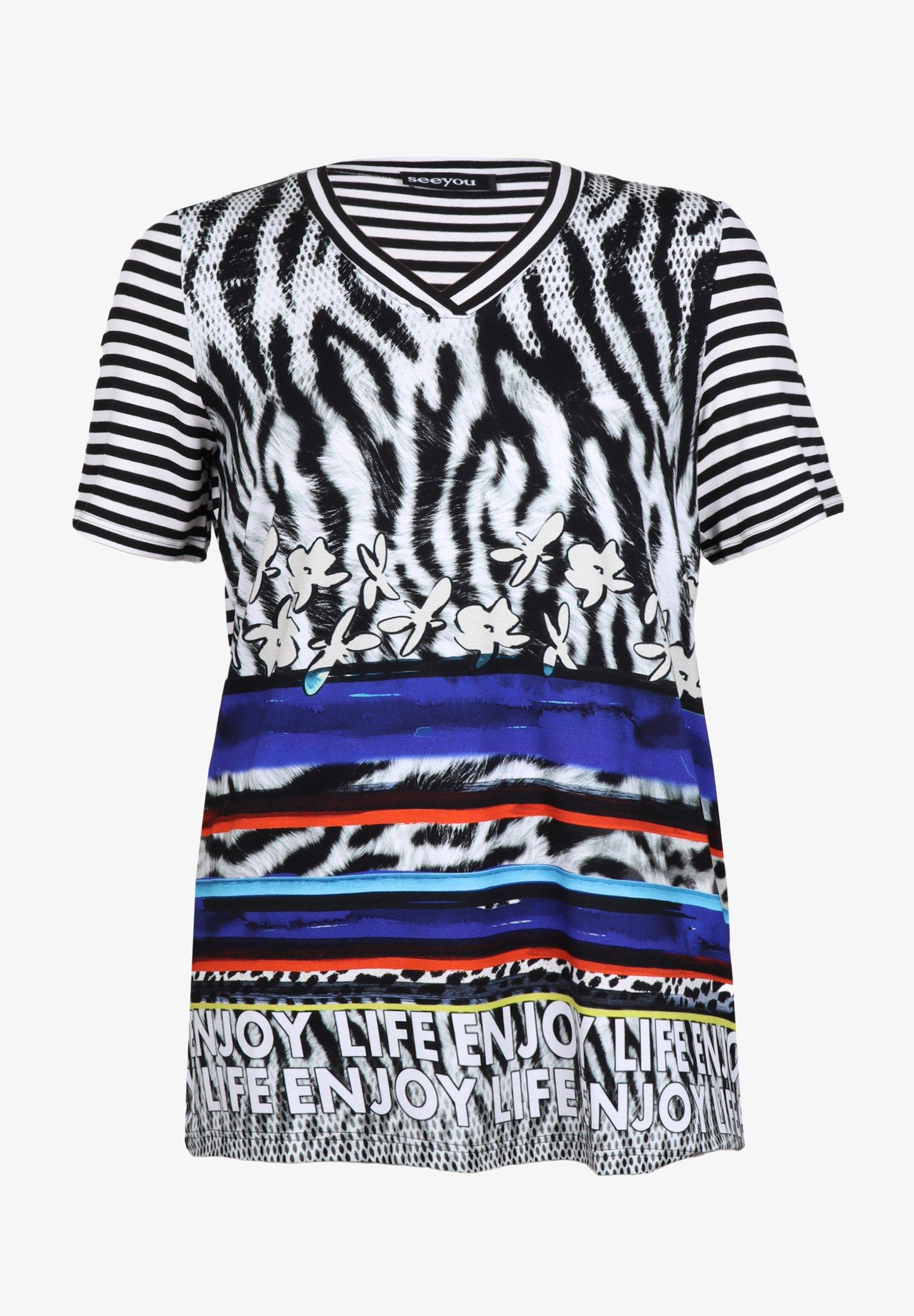 mustermix - t-shirt print - royal